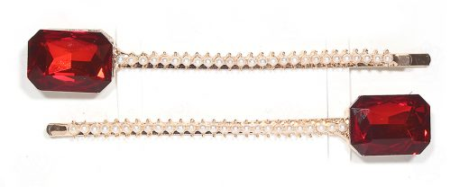 Beatrice Red Gold Crystal Clips