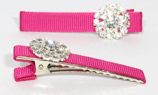 Daisy Clips – Bright Pink