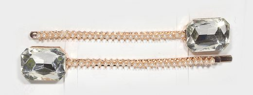 Beatrice Clear Gold Crystal Clips