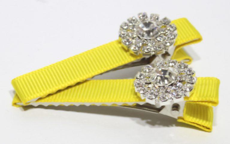 Daisy Clips – Bright Yellow